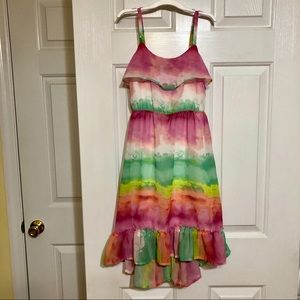 Children's Place Multi-colored Ruffled Dress